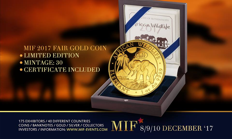 Maastricht International Fair – MIF 2017 Fair Silver - Golden Elephant Coin – Limited Edition - Gold