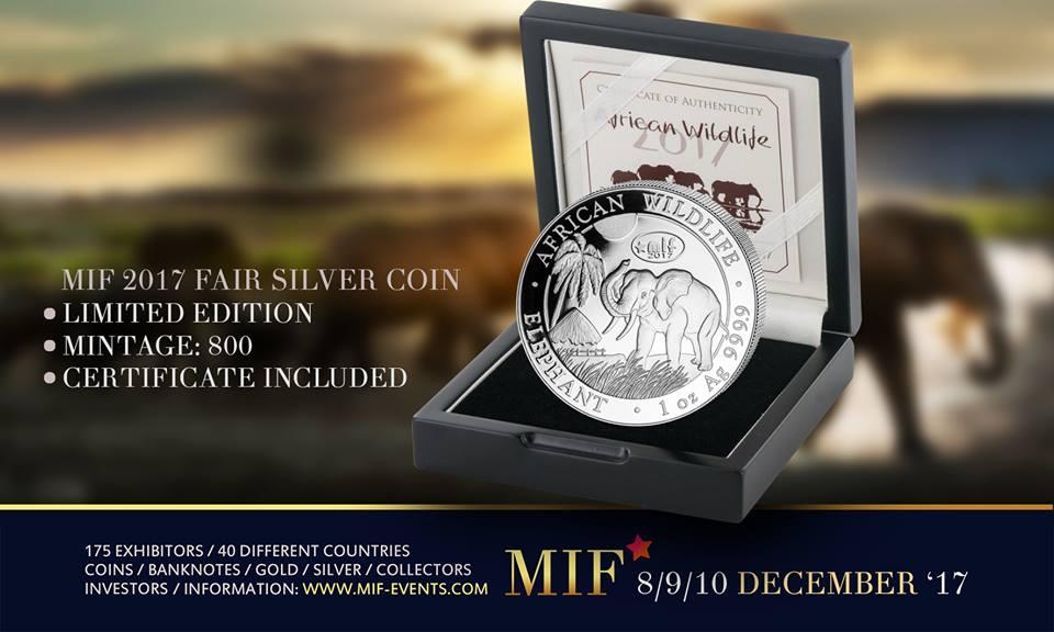 Maastricht International Fair - MIF 2017 Fair Zilver - Gouden Olifant Munt – Limited Edition - Zilver