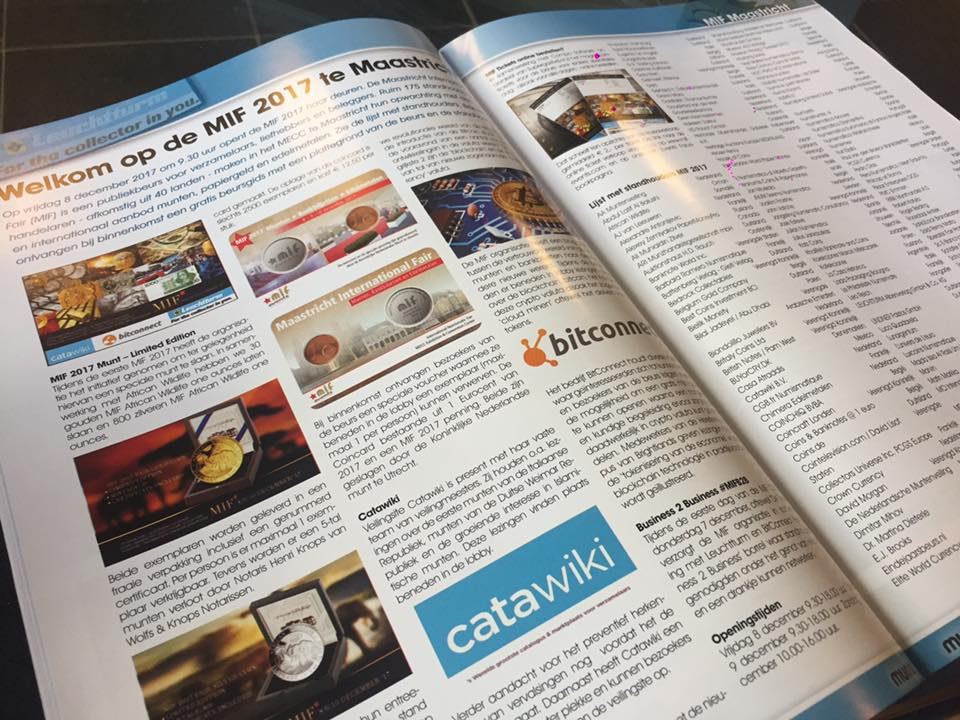 Nice article on the MIF Fair in the Dutch magazine Muntkoerier