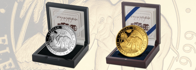 Win a gold or silver African Wildlife coin in our tombola